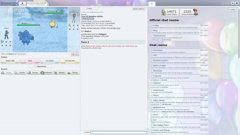 Pokemon Showdown min