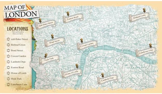 Mapa de Londres Enola Holmes