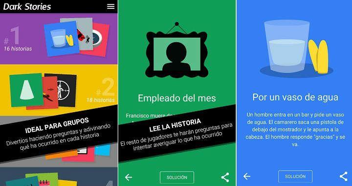 Los mejores juegos Android para fiestas y reuniones familiares Dark Stories
